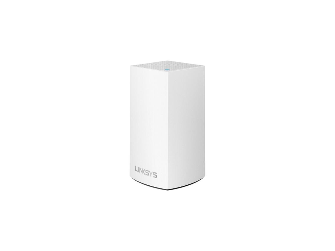 Linksys Velop Intelligent Mesh WiFi System, WHW0102; 1-Pack White (AC2600); Wi-Fi Technology: Dual-Band AC1300 (867 + 400 Mbps)‡ with MU- MIMO and 256 QAM; Network Standards: 802.11b/802.11a/802.11g/802.11n/ 802.11ac/ Wi-Fi Speed: AC1300 (867 + 400 Mbps); Wi-Fi Bands: 2.4Ghz + 5GHz; Wi-Fi Range: up - imaginea 1