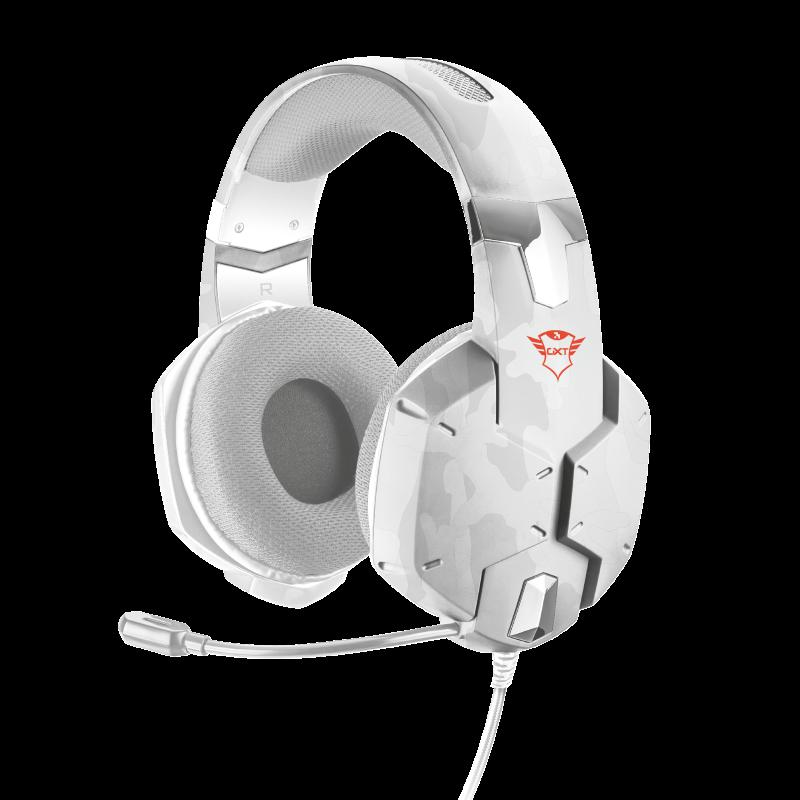 Casti cu microfon Trust GXT 322W Carus Gaming Headset, snow camo - imaginea 1