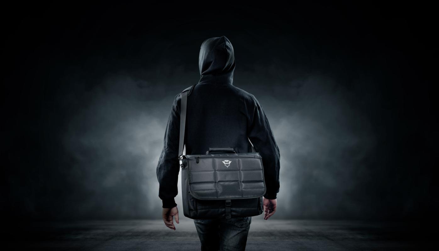 "Geanta GXT1270 Bullet Messenger Bag 15.6"" Black - imaginea 11"