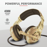 Casti cu microfon Trust GXT 310D Radius Gaming Headset, desert camo - imaginea 6