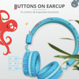 Casti cu microfon Trust Comi Kids, Bluetooth Wireless, blue - imaginea 8