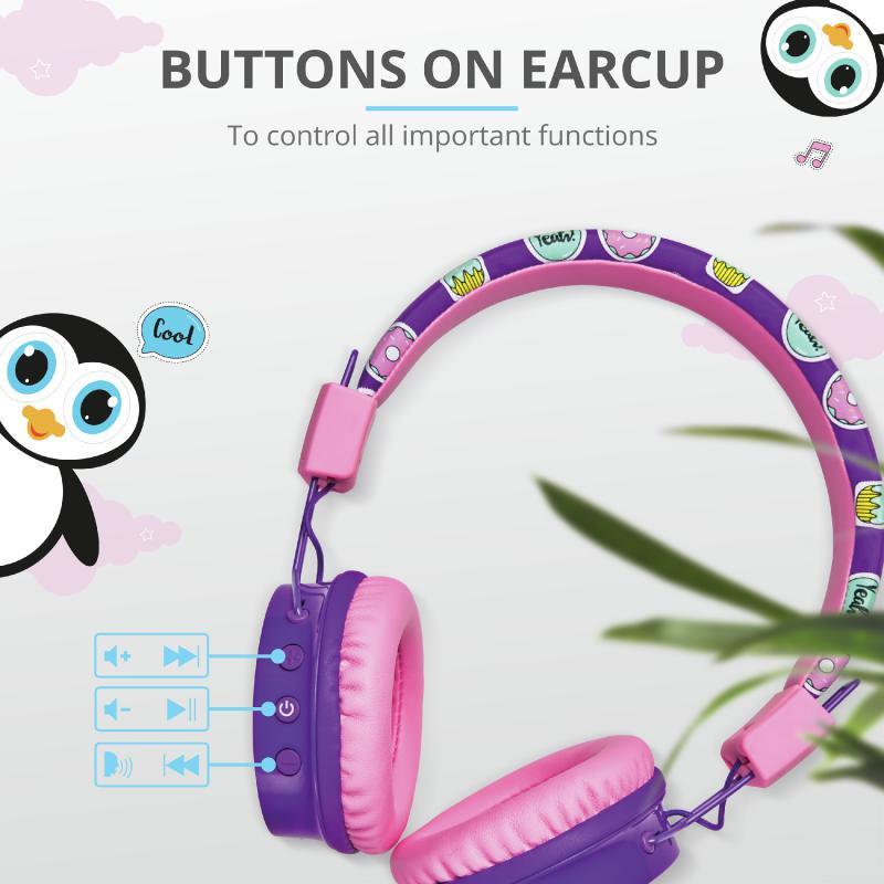 Casti cu microfon Trust Comi, Wireless Kids, purple - imaginea 7