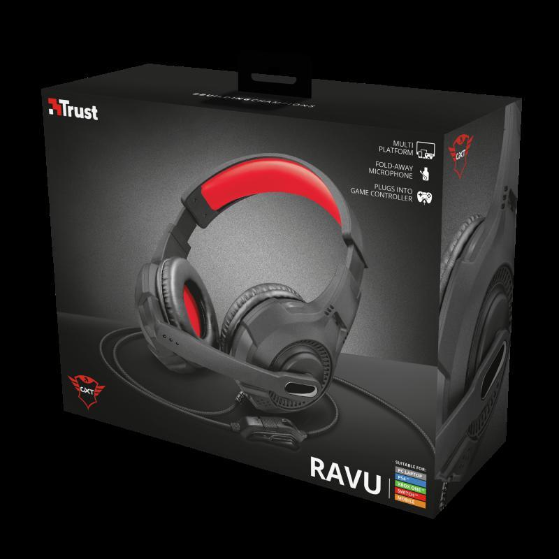 Casti cu microfon Trust GXT 307 Ravu Gaming Headset, negru - imaginea 10
