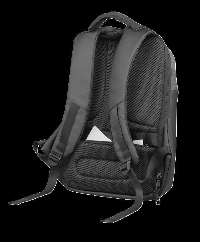 """Rucsac Trust Nox Anti-theft Backpack 16"""" Black - imaginea 12"""
