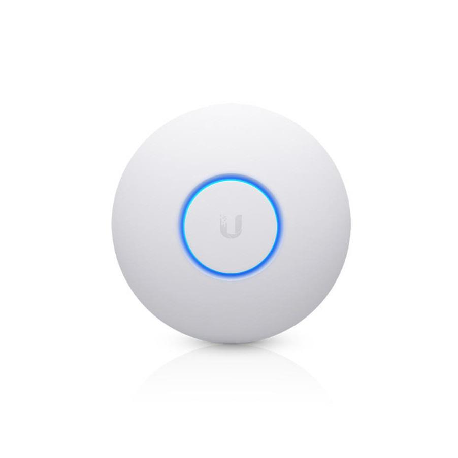 Ubiquiti UniFi Acess Point Wave 2 Hi-Density UAP-nanoHD, 1x Gigabit LAN, AC2100 (300+1733Mbps), 2x2 MIMO 2.4GHz, 4x4 MIMO 5GHz, Indoor, 802.3af PoE, 10.5W, Recommended Maximum Number of Users=125, Theoretical Maximum Number of Users=200, Wireless Uplink, DFS Certification, kit de montare pe tavan - imaginea 1