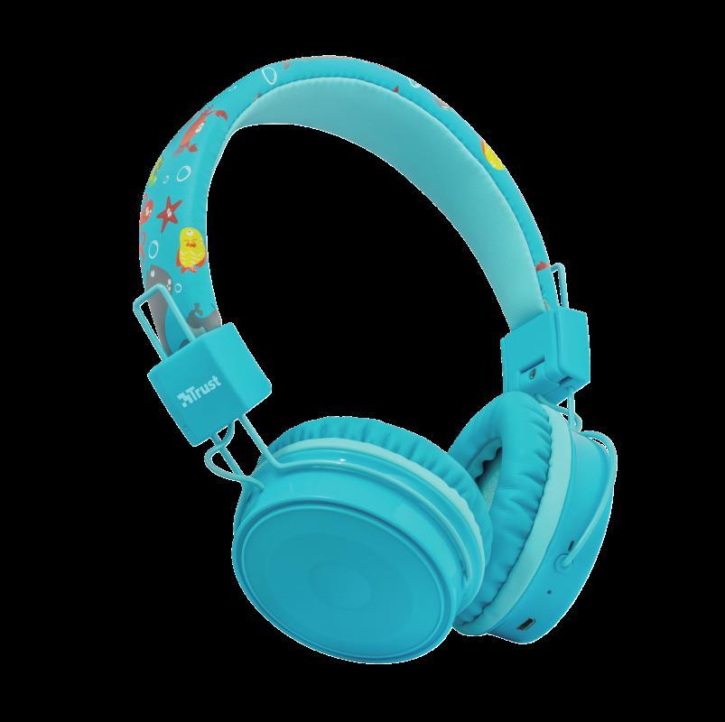 Casti cu microfon Trust Comi Kids, Bluetooth Wireless, blue - imaginea 3