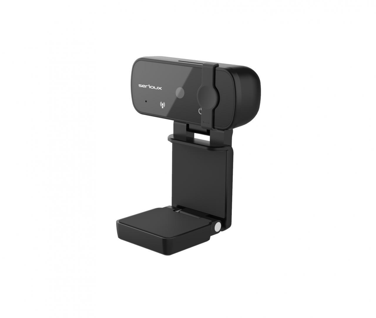 Camera web Serioux Full HD 1080p, chipset Sunplus2381+F23, microfon incorporat, rata cadre 30fps, rezoluție maximă video 1920*1080, format video MJPG / YUY2, senzor CMOS HD 2.0 Mega pixeli pentru imagine, tipul focalizării autofocus, control automat saturație, contrast, acutanță, echilibru de alb - imaginea 1