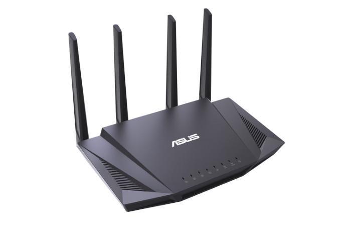 Router Wireless Asus RT-AX58U; Standard rețea: IEEE 802.11a, IEEE 802.11b, IEEE 802.11g, IEEE 802.11n, IEEE 802.11ac, IEEE 802.11ax, IPv4, IPv6; Segment produs: Performanță AX Extremă AX3000; Rata Datelor: 802.11ax (2.4GHz) : up to 574 Mbps, 802.11ax (5GHz) : up to 2402 Mbps; 4 * antenă externă - imaginea 1