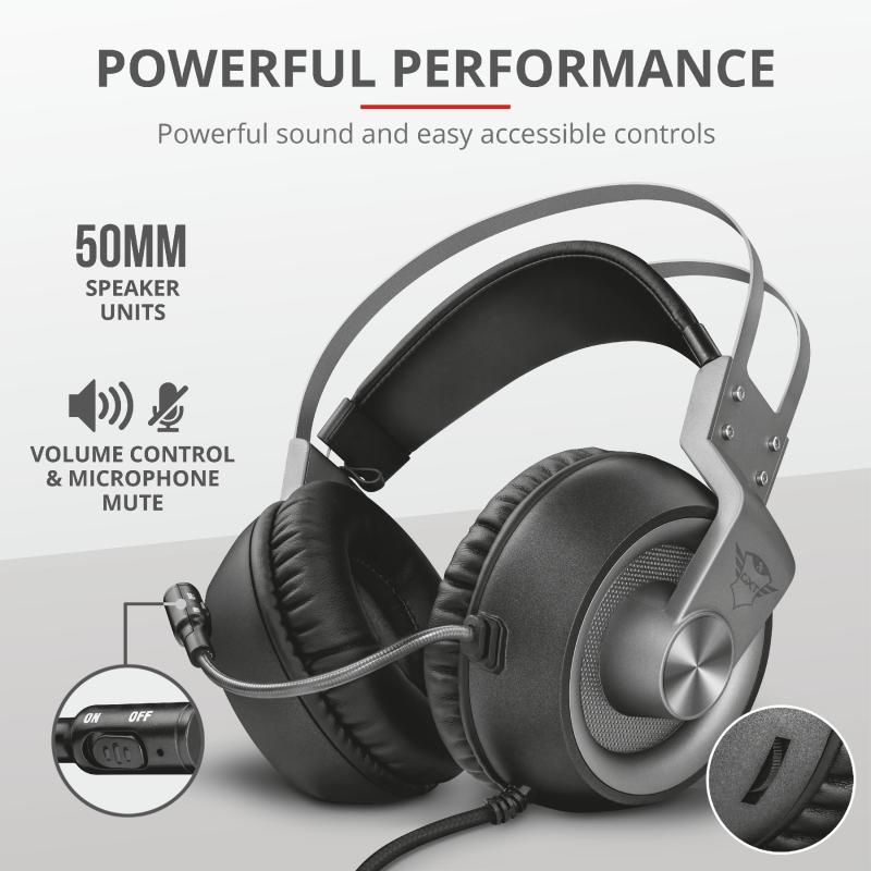 Casti cu microfon Trust GXT 430 Ironn Gaming, negru - imaginea 6