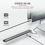 Adaptor Trust Dalyx Aluminium 10-in-1 USB-C Multi-port Dock - imaginea 8