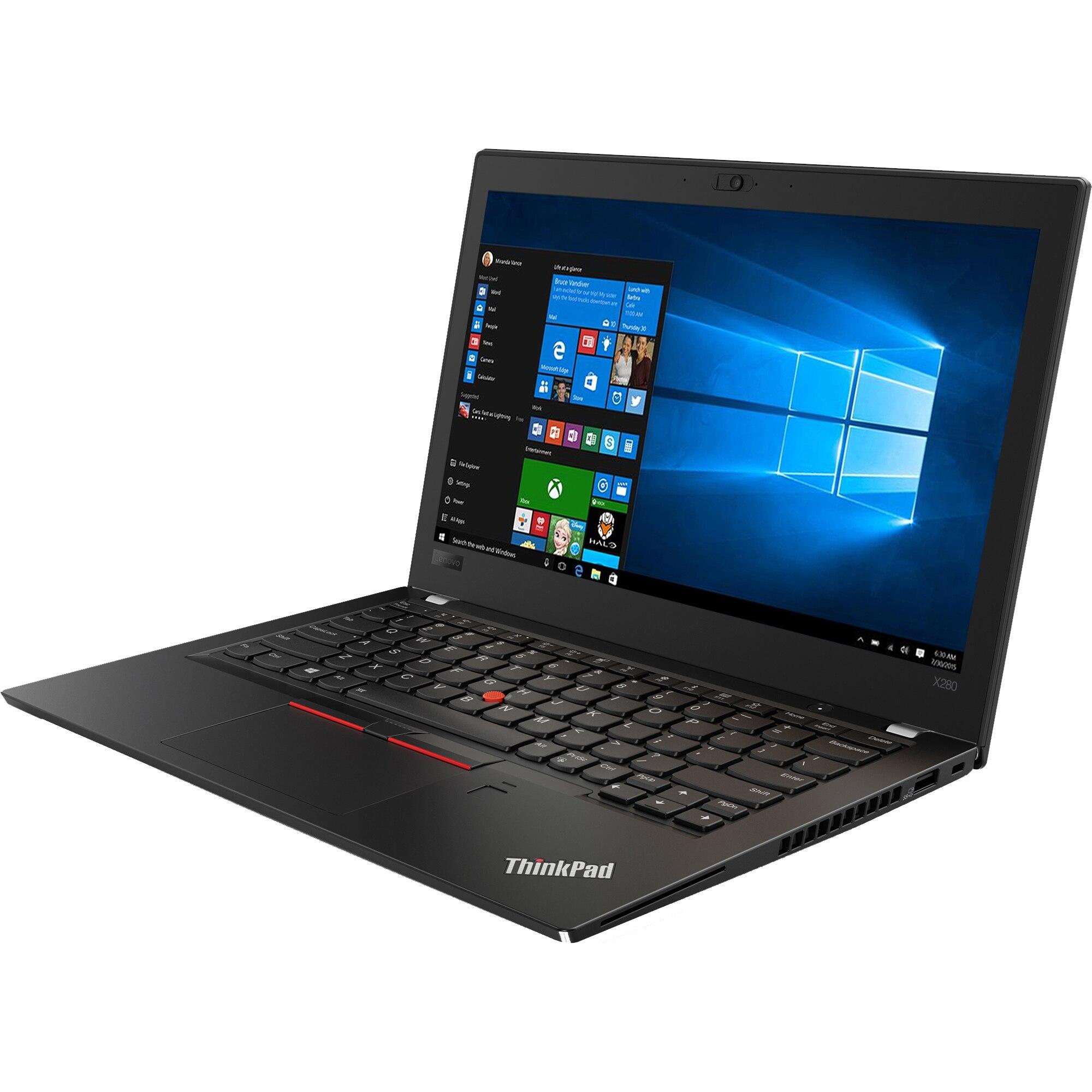 "Laptop Lenovo ThinkPad x280, Intel Core i5 8350U 1.7 GHz, 8 GB DDR4, 256 GB M.2 NVMe, Intel UHD Graphics 620, WI-FI, Bluetooth, WebCam, Display 12.5"" 1920 by 1080, TouchScreen, Windows 10 Pro, 3 Ani Garantie - imaginea 1"