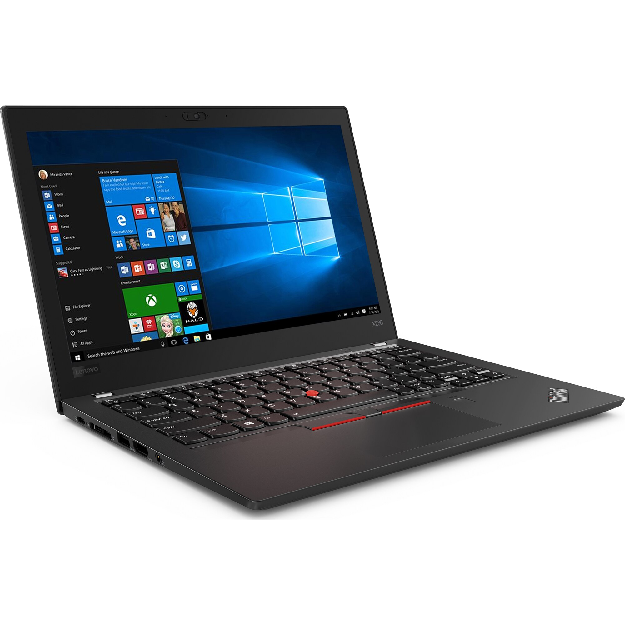 "Laptop Lenovo ThinkPad x280, Intel Core i5 8350U 1.7 GHz, 8 GB DDR4, 256 GB M.2 NVMe, Intel UHD Graphics 620, WI-FI, Bluetooth, WebCam, Display 12.5"" 1920 by 1080, TouchScreen, Windows 10 Pro, 3 Ani Garantie - imaginea 2"